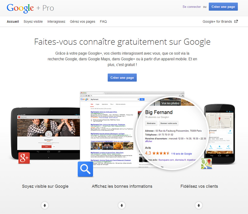 Création de page Google+ Local