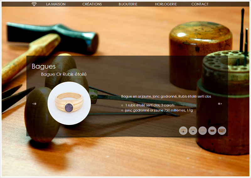 Page Bagues du site pau-antignac.com