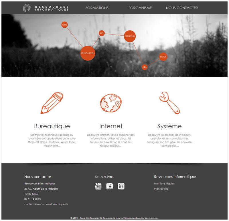 Page Accueil du site ressourcesinformatiques.fr
