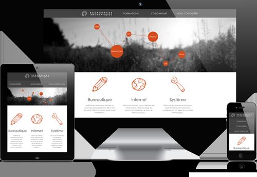 Versions responsives du site ressourcesinformatiques.fr