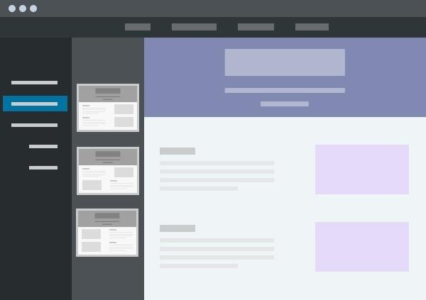 Conception d'un site sur modèle
