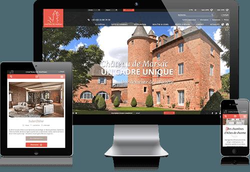 Réalisation du site internet du Château de Marsac