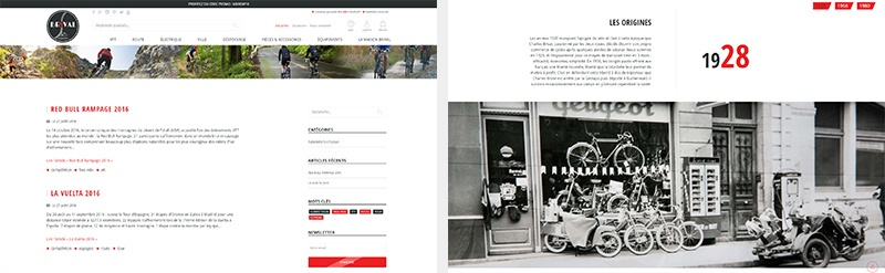 pages du site VeloBrival