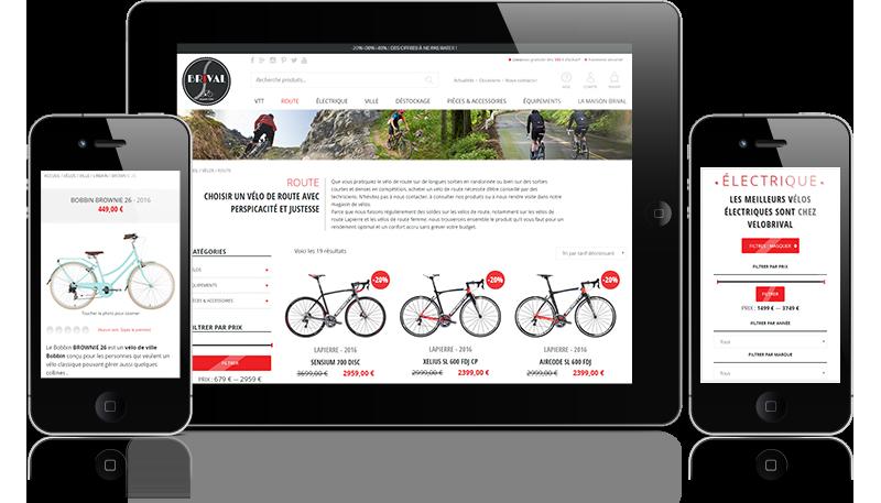 site internet VeloBrival sur mobiles